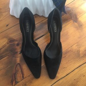 Black Lauren Ralph Lauren high heels.